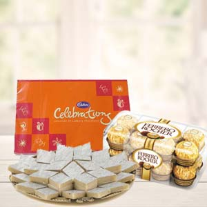 Ferrero Rocher Combo With Celebrations: Rakhi  India