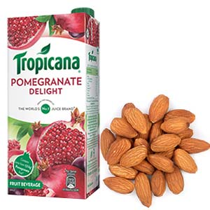 Tropicana & Dry Fruits Combo: Gift Ambala Cantt,  India