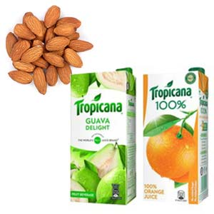 Dry Fruits With Tropicana Combos: Gifts For Her Kanpur,  India