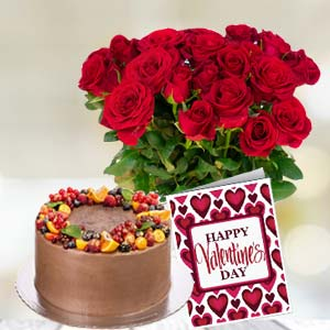 Rose Basket Combo: Birthday  India