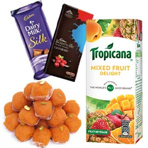 Tropicana With Chocolates Combo: Gifts For Her Sonipat,  India