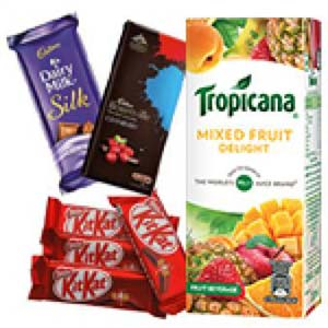 Tropicana And Chocolates Combo: Gift Zirakpur,  India