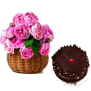Pink Roses And Chocolate Cakes: Gift Faridabad,  India