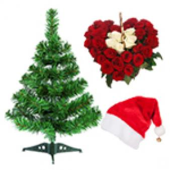 Heart Shape Christmas Gifts Combo: Christmas  India