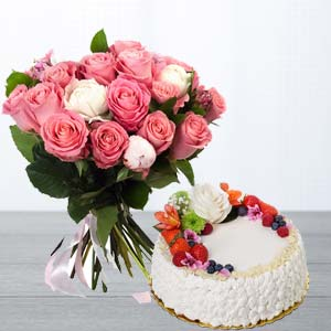 Pink Roses Gifts Combo: Gifts For Husband Bikaner,  India