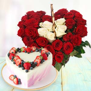 Heart Shaped Combo Gifts: Gifts For Her Dehradun,  India