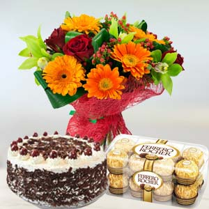 Mixed Flowers Combo: Gift Guna,  India
