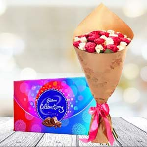 Mix Roses And Chocolates: Anniversary-flowers  India
