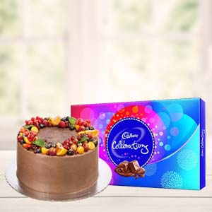 Chocolate Cake Gifts Combo: Gifts For Her Jabalpur,  India