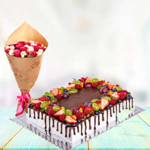 2 KG Chocolate Cake Gifts Combo: Gifts For Husband  India