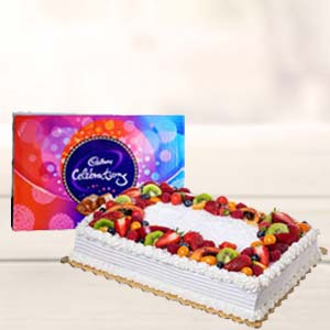 2 KG Pineapple Fruit Cake: Gift Howrah,  India