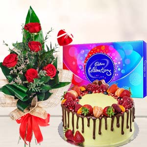 Regular Gift Combos: Anniversary-flowers  India