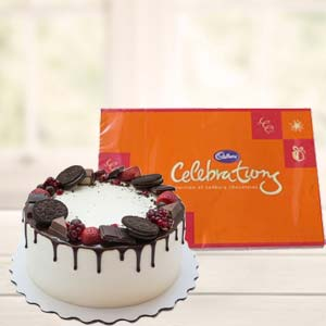 Oreo Cake Gifts With Chocolate: Gift Mathura,  India