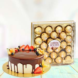 Yummy Chocolates With Fruit Cake: Gift Rajkot,  India