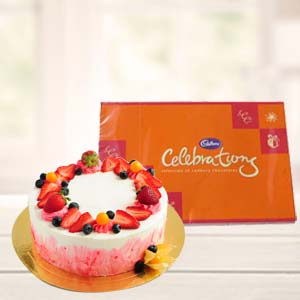 Cake Combo With Chocolate: Gifts For Sister  India
