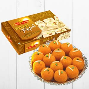 Haldiram Soan Papdi With Ladoo: Gift Jhansi,  India