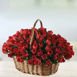 Special 70 Rose Basket: Gift Khanna,  India