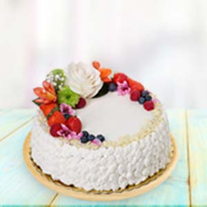 Fresh Fruit Cream Cake: Gifts For Husband Guwahati,  India