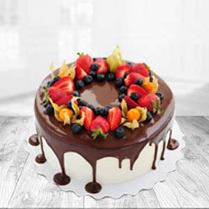 Chocolate Fruit Cake: Rakhi Ambala Cantt,  India