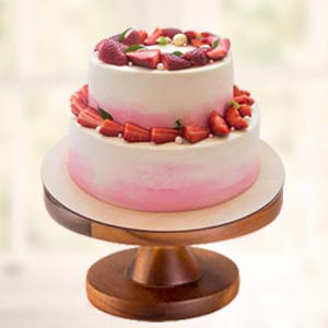 Strawberry Fruit Cake: Engagement  India