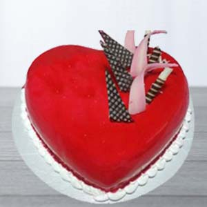 Red Velvert Cake: Gift Gurdaspur,  India