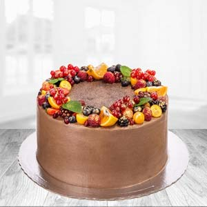 1 KG Chocolate Fruit Cake: Kiss Day  India