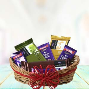 Cadbury Chocolate Basket: Birthday-chocolates  India